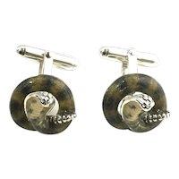 Thistle & Bee Sterling Silver Cobra Cufflinks