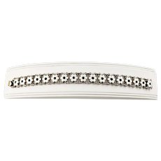 Vintage Norway Sterling Silver and Enamel Flower Link Bracelet