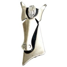 Vintage Orb Otto Robert Bade Modernist Sterling Silver Horse Head Pin
