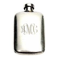 Vintage Charles Thomae Sterling Silver Perfume Bottle with Monogram