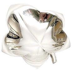 Tiffany & Co Sterling Silver Small Ivy Leaf Dish