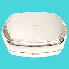 Vintage Tiffany & Co Sterling Silver Box with Etched Goat Head
