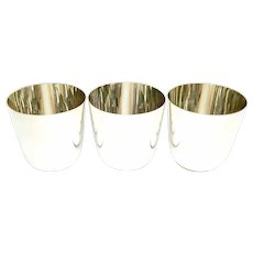 Set of 3 Vintage Tiffany & Co Sterling Silver Tumbler Jefferson Cups