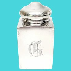 Antique Lebkuecher & Co Sterling Silver Tea Caddy with Monogram