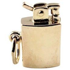 Vintage 14 Karat Yellow Gold Mechanical Lighter Charm