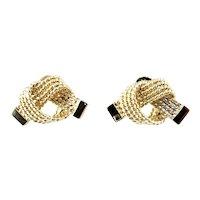 Vintage 14 Karat Yellow Gold Tiffany & Co. Rope Knot Earrings