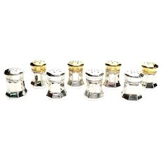 Set of 8 Cartier Sterling Silver Individual Salt and Pepper Shakers