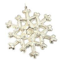 1981 Gorham Sterling Silver Snowflake Ornament
