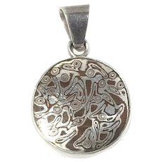 Charles Albert Sterling Silver Pendant