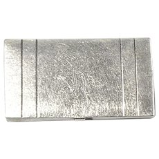 Wells Sterling Silver Small Box with Monogram K