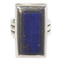 RLM Robert Lee Morris Sterling Silver Lapis Lazuli Ring, Size 8