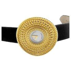 Carrera Y Carrera 18K Yellow Gold Abstract Circle Disc MOP Ladies Watch