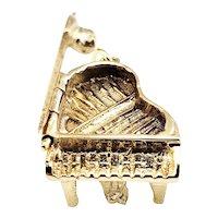 Vintage 14 Karat Yellow Gold Grand Piano Charm