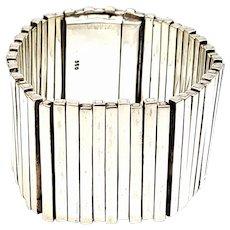 950 Silver Wide Flexible Bar Bracelet