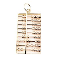 Vintage 14 Karat Rose Gold Articulated Abacus Charm