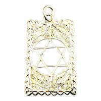 Vintage 14 Karat Yellow Gold Star of David Pendant