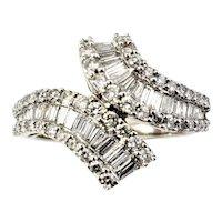 Vintage 14 Karat White Gold and Diamond Ring Size 6.75 GAI Certified
