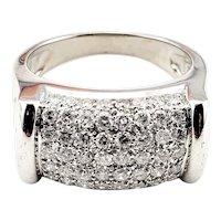 Vintage 14 Karat White Gold and Diamond Ring Size 7 GAI Certified