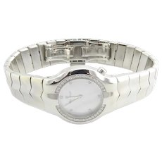 TAG Heuer Stainless Steel Mother of Pearl Diamond Dial and Bezel Ladies Watch