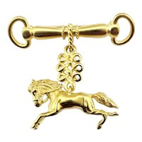 Vintage 18 Karat Yellow Gold Horse Brooch/Pin