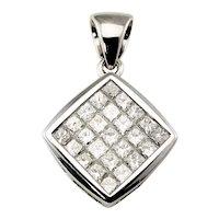 Vintage 18 Karat White Gold and Diamond Pendant