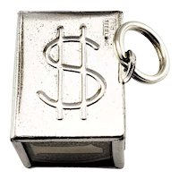 Vintage Sterling Silver Mad Money Charm