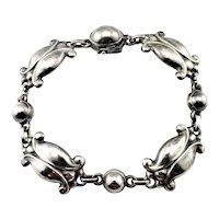 Vintage Georg Jensen Denmark Sterling Silver #11 Moonlight Blossom Bracelet