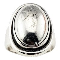 Vintage Georg Jensen Denmark #46A Sterling Silver Ring Size 6.5