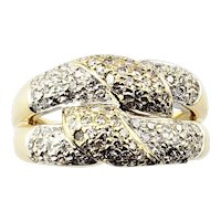 Vintage 14 Karat Yellow Gold Diamond Knot Ring Size 7