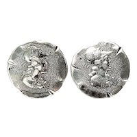 Antique Victorian ACME 900 Silver Cufflinks