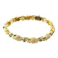Vintage Tiffany & Co. 18 Karat Yellow Gold and Emerald Bracelet