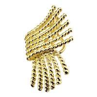 Vintage Tiffany & Co. Schlumberger 18 Karat Yellow Gold Single Clip On Earring