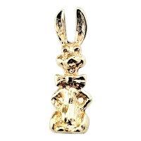Vintage 10 Karat Yellow Gold Rabbit Charm