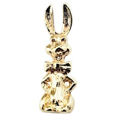 Vintage 10 Karat Yellow Gold Rabbit Charm