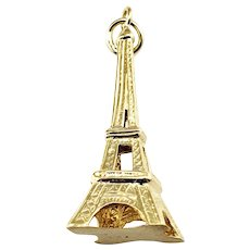 Vintage 18 Karat Yellow Gold Eiffel Tower Charm