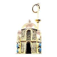 Vintage 10 Karat Yellow Gold Mosque Charm