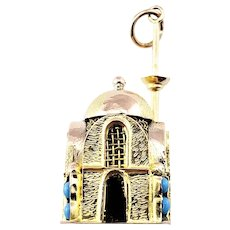 Vintage 10 Karat Yellow Gold Mosque Charm