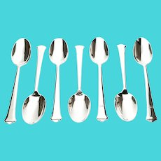 Set of 7 Tiffany & Co Windham Pattern Sterling Silver Teaspoons