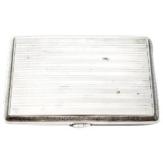 Vintage Germany 800 Silver Banded Cigarette Case