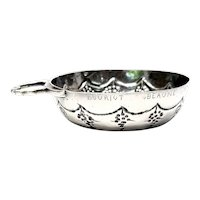 Antique French Hammered Silver Small Porringer/Sweet Meat Bowl