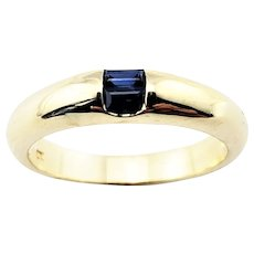 Vintage 14 Karat Yellow Gold and Sapphire Ring Size 6.5