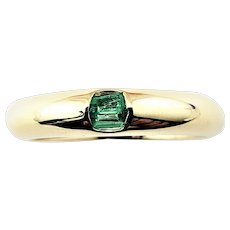 Vintage 14 Karat Yellow Gold and Emerald Ring Size 6.5
