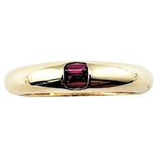 Vintage 14 Karat Yellow Gold and Ruby Ring Size 6.5