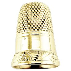 Vintage 14 Karat Yellow Gold Thimble