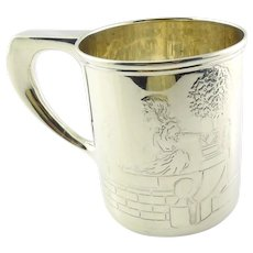 Tiffany & Co Sterling Silver Boy/Girl Cat/Dog Baby Cup