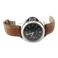 Panerai Men's Automatic Watch OP 6693 PAM 104 44mm Black Dial Luminor Marina