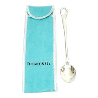 Tiffany & Co Elsa Peretti Sterling Silver Baby Feeding Spoon with Pouch