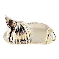 Vintage 14 Karat Yellow Gold Fireman's Cap Charm