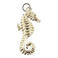 Vintage 14 Karat Yellow Gold Seahorse Charm