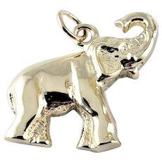 Vintage 14 Karat Yellow Gold Elephant Charm